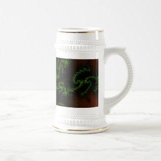 Arte verde y rojo del sueño del dragón - del fract tazas de café