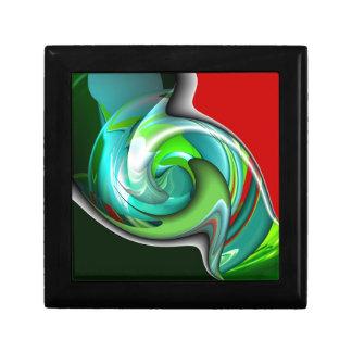 Arte verde y rojo del trullo caja de regalo
