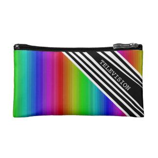 Arte vertical de las barras de color del arco iris