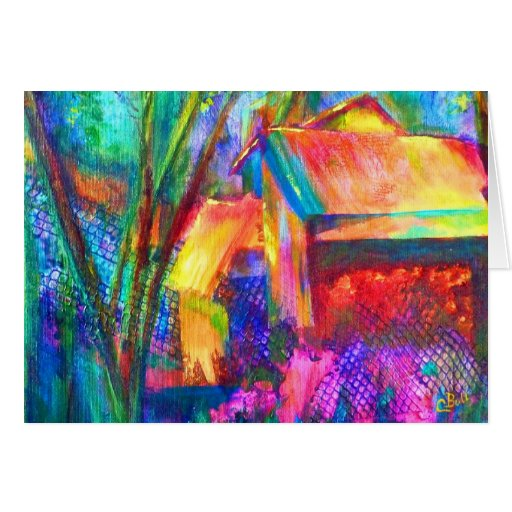 "Arte vertido ""jardín"" tarjetas"