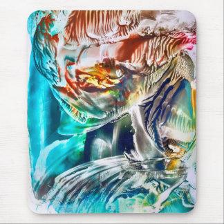 Arte vibrante surrealista en cera del encaustic tapetes de ratones