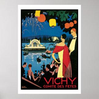 Arte Vichy Francia del poster del vintage