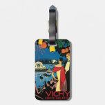 Arte Vichy Francia del poster del vintage Etiquetas Para Maletas