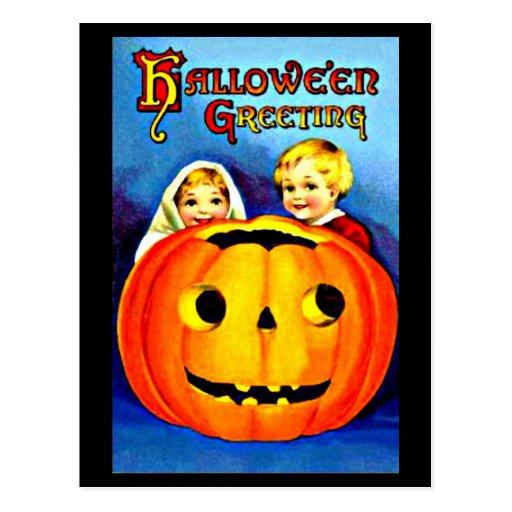 Arte-Vintage Halloween 28 del Postal-Día de fiesta