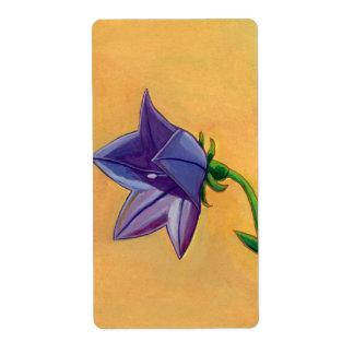 Arte violeta del bonito de la pintura del aguazo etiquetas de envío