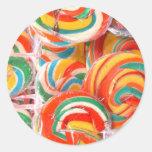 arte vo1 del lollipop pegatina redonda