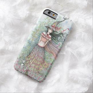 Arte Wiccan de la fantasía de la bruja de la flor Funda Barely There iPhone 6