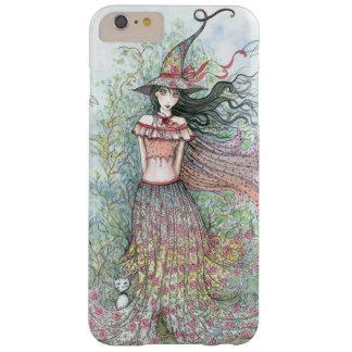 Arte Wiccan de la fantasía de la bruja de la flor Funda Barely There iPhone 6 Plus