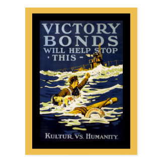 Arte WWI del poster Tarjetas Postales
