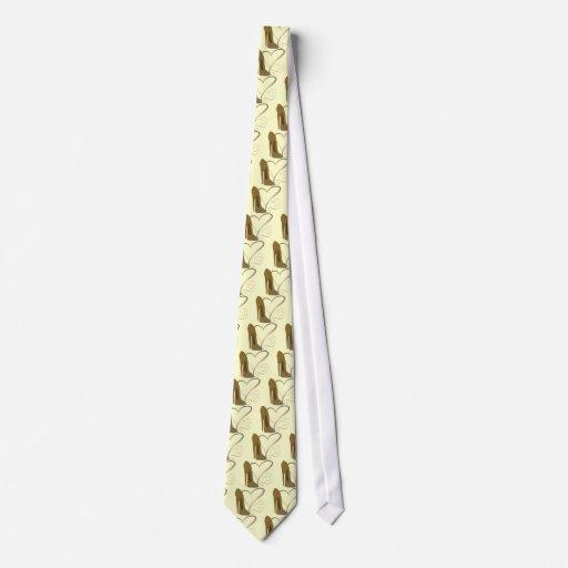 Arte y corazones del zapato del estilete del vinta corbata