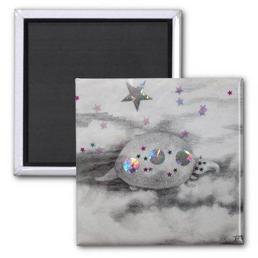 Arte y diseño cósmicos de CricketDiane del armadil Imanes