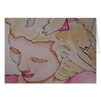 """Arte y diseño de """"princesa Girl"""" CricketDiane Tarjeta De Felicitación"""