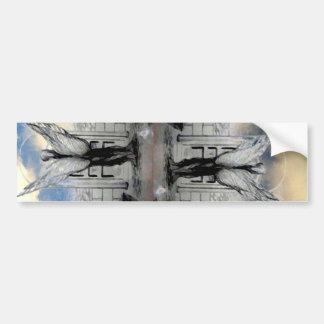 Arte y diseño místicos de CricketDiane del ángel Etiqueta De Parachoque