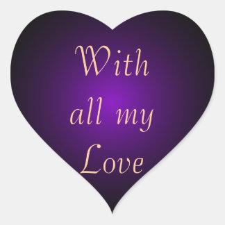 Arte y diseño púrpuras de CricketDiane del drama Pegatina En Forma De Corazón