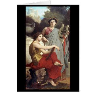 Arte y literatura - William-Adolphe Bouguereau Tarjeta De Felicitación