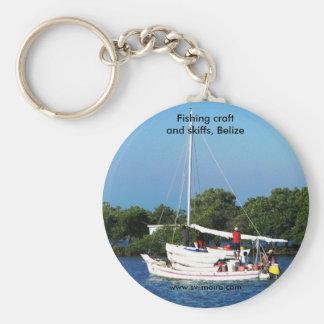 Arte y skiffs, Belice de la pesca Llavero Redondo Tipo Pin
