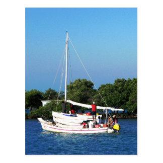 Arte y skiffs Belice de la pesca Tarjetas Postales