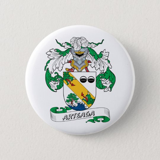 Arteaga Family Crest Button