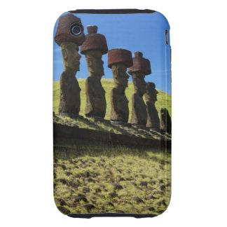 Artefactos de Rapa Nui, isla de pascua Tough iPhone 3 Cárcasa