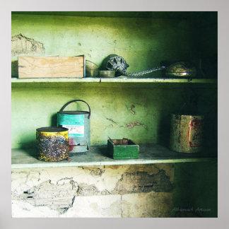 Artefactos olvidados - todavía vida póster