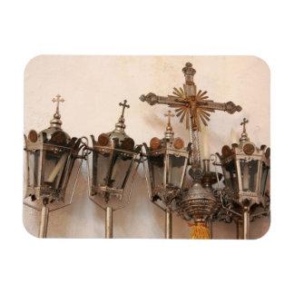 Artefactos religiosos imanes de vinilo