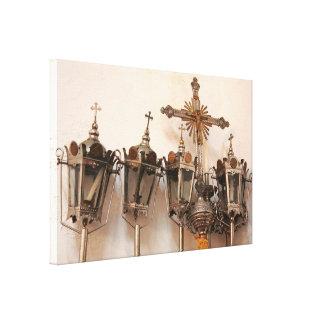 Artefactos religiosos impresiones en lona