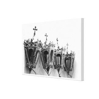 Artefactos religiosos impresión de lienzo