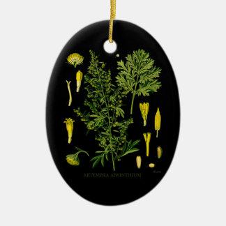 Artemesia Absinthium Ceramic Ornament