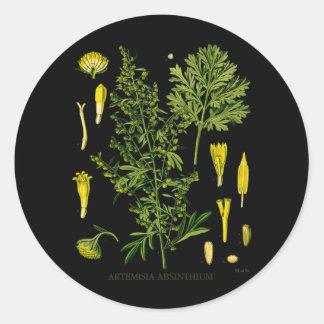 Artemesia Absinthium Classic Round Sticker