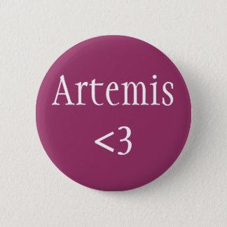 Artemis <3 badge pinback button