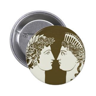 Artemis and Apollo 2 Inch Round Button