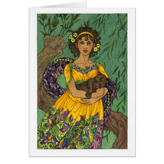 Artemis Brauronia Greeting Card