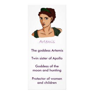 Artemis information card rack card design