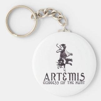 Artemis Basic Round Button Keychain