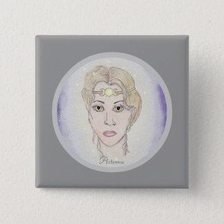 Artemis Moon Goddess Pinback Button