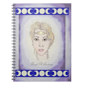 Artemis Moon Goddess Triple Moon Book of Shadows Spiral Note Book