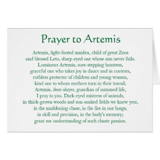 Artemis Notecard Stationery Note Card