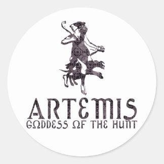 Artemis Pegatina Redonda