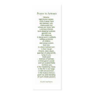 Artemis Prayer Card