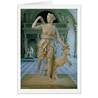 Artemis the Huntress, known as the 'Diana of Versa Greeting Card
