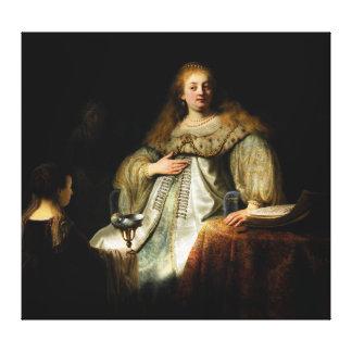 Artemisia by Rembrandt (1634) Canvas Print