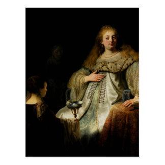 Artemisia de Rembrandt Tarjeta Postal