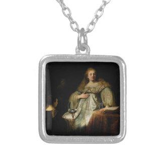 Artemisia de Rembrandt Van Rijn Colgante Cuadrado