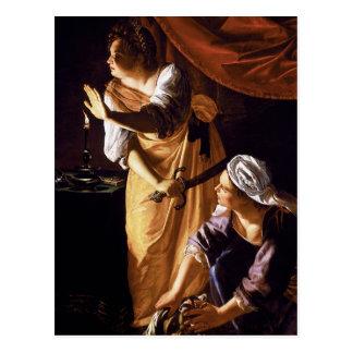 Artemisia Gentileschi Art Postcard