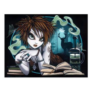 Artemisia Pixie Moon Tea Mugwort Stag Nature Myka Postcard