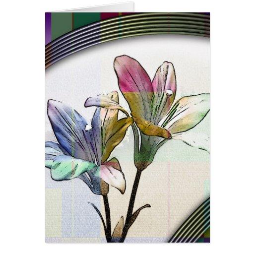 arteology floral tarjeta de felicitación
