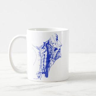 Arterias vertebrales humanas de la imagen médica taza