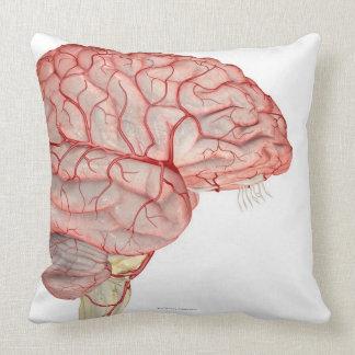 Arteries of the Brain Throw Pillow