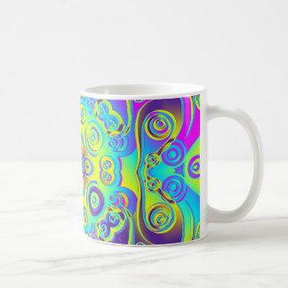 Artes abstractos - caleidoscopio 12 taza de café