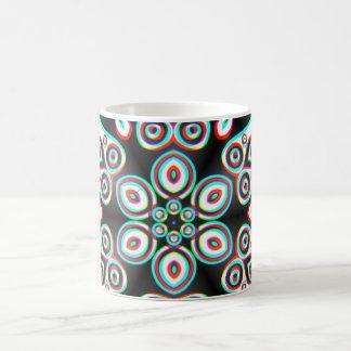 Artes abstractos - caleidoscopio 4 tazas de café